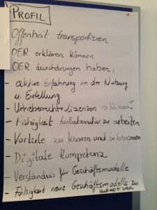 Fotoprotokoll 1 zum Profil OER-Fachexperte